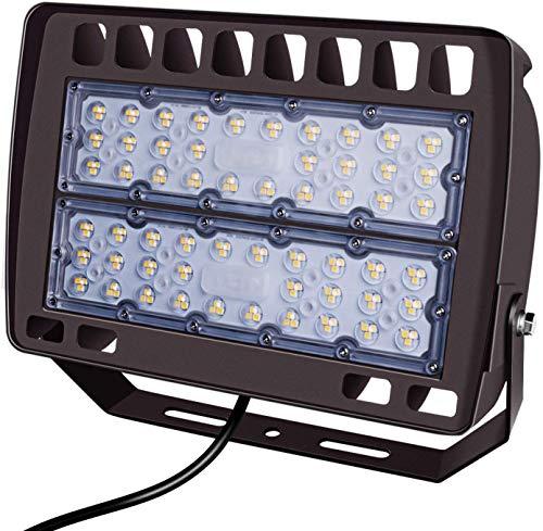 FaithSail 150W LED Flood Light Outdoor Stadium Lights, 16500LM, 5000K, IP66 Waterproof LED Floodlight, 150 Watt Ultra Bright Shoebox Parking Lot Arena Security Lighting Fixture for Court, Yard, Garden