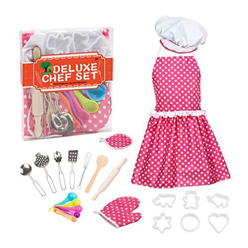 WDFVGEE Juego de rol de chef con disfraz y accesorios de cocina para ayudar a tu vida a ser mejor