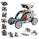 12 in 1 Solar Roboter Bausatz Set Kinder, STEM Spielzeug Konstruktion Bauset, DIY konstruktionsspielzeug Robot Wissenschaft Kits Geschenk Junge für Kinder über 8 Jahren