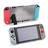 【Package Include】Split five-piece Switch game console protective shell (2 handle covers + 2 handle bottom shells + main body rear shell). 【Unique Design】Exclusive Pattern, Separable design, Exact cut and design fits the switch console and joy-cons pe...