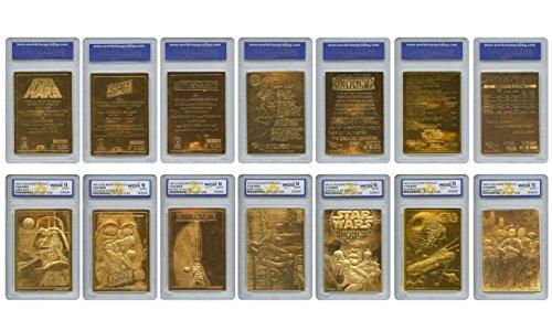 DIGITNOW Star Wars 1996 Original Genuine 23KT Gold Cards - Graded Gem-Mint 10 - Set of 7