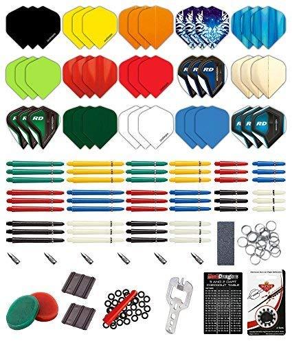 Paquete para Crear Dardos Personalizados con 200 Piezas - Red Dragon