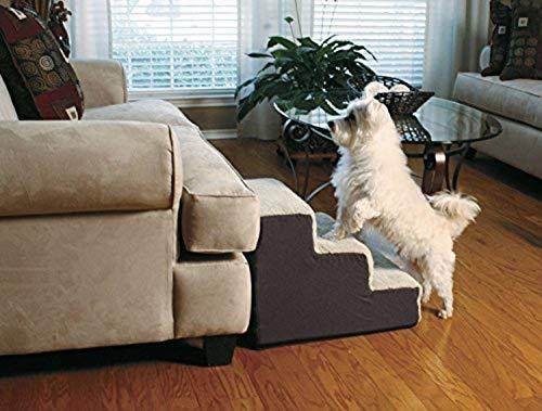 Dallas Manufacturing Co. 3 Step Home Décor Pet Steps, Brown & Tan