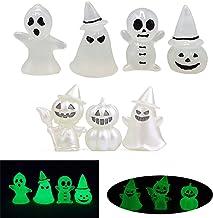 3/4/7Pcs Lichtgevende Ghost Beeldje Halloween Miniatuur Ghost Glow in The Dark Ghost Ornamenten Poppen Beeldjes Lichtgeven...