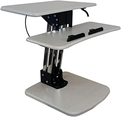 MS Tables Station Sit Dual Purpose Desktop Computer Desk Stand-up Laptop Table Stand Office