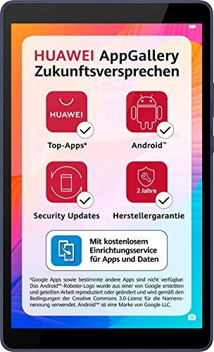 Huawei MatePad T 8, HD WiFi PC-Tablet, Octa-core Prozessor, Gesichtserkennung, 2 GB RAM, 16 GB ROM, Betriebssystem EMUI 10 mit Huawei Mobile Services (HMS), Deepsea Blue