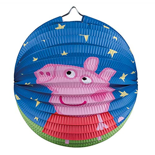 Peppa Wutz Lampion rund 25 cm Peppa Pig | Kinder Laterne | Dekoration Party