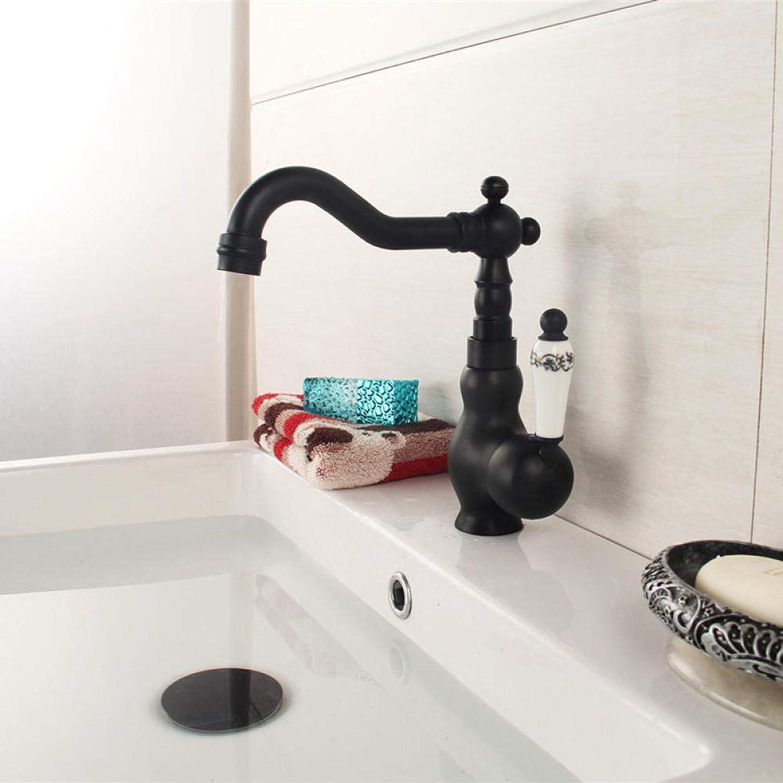 Waschtischarmaturen Küchenarmaturen Wasserhahn - Badezimmer Schwarz Bronze Retro Wasserhahn Heies Und Kaltes Wasser Wasserhahn Becken Becken über Der Theke Becken Wasserhahn