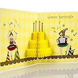 Biglietto tridimensionale pop-up di compleanno con ragazza danzante, regalo di compleanno per figlia e bambine, ballerina, fidanzata