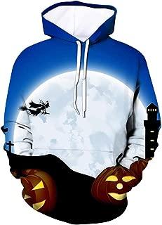 Halloween Men Sweatshirt Pullover Scary Pumpkin 3D Print Hooded Party Long Sleeve Hoodie Blouse