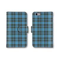 【ノーブランド品】 Galaxy S8+ SC-03J スマホケース 手帳型 チェック柄 タータンチェック ブルー かわいい おしゃれ 携帯カバー SC-03J ケース