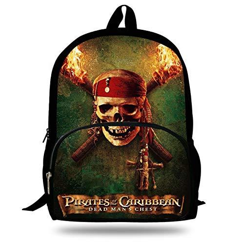 16Inch Fashional Carácter Imprimir Bolsa para La Escuela Adolescentes Niños Niñas Piratas De La Mochila del Caribe para Niños Escuela Librosbags