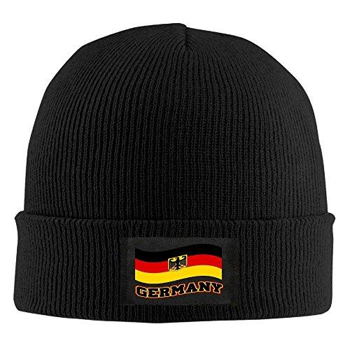 UUONLY Strickmütze Mütze Deutschland wehende Flagge Deutschland Stolz modischer weicher Erwachsener