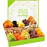 Dried Fruit & Nut Gift Basket in White Box...