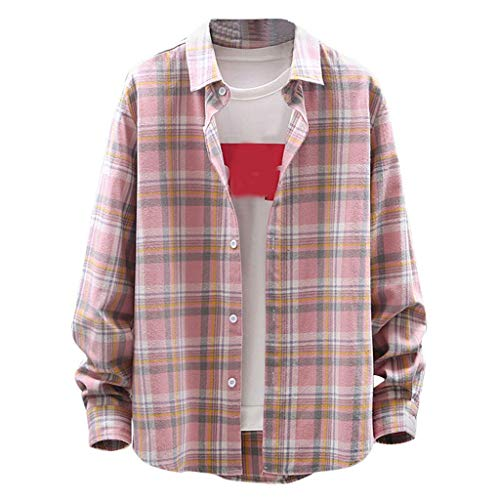 Herenmode Recreatieve geruit shirt met lange mouwen Plaid Light Blouse