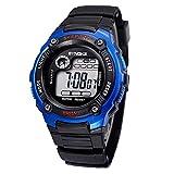 キッズ ウォッチ 腕時計 ハンド時計 デジタルウォッチ スポーツ腕時計 アウトドア ライト 防水 ファッション 5色あり (ブルー)
