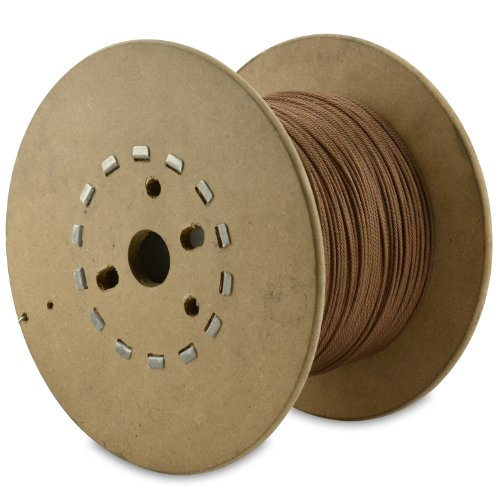 American Fishing Wire 49-Strand Cable Bare 7x7 Stainless Steel Leader Wire, Camo Brown Color, 175 Pound Test, 30-Feet