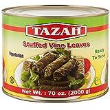 Tazah Stuffed Grape Leaves Dolmas 70 Ounce 2000 Grams