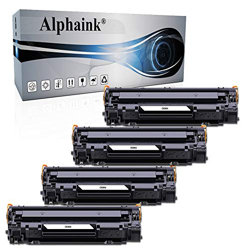 Alphaink 4 Toner Compatibili con HP CE285A 85A per stampanti HP LaserJet Pro P1102 P1102W M1212NF M1132 MFP M1217NFW M1132 M1212 M1130 P1100 M1136 M1210 M1210MFP M1134MFP M1134