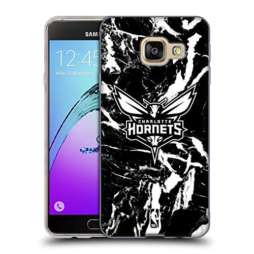 Head Case Designs Ufficiale NBA Marmoreo 2019/20 Charlotte Hornets Cover in Morbido Gel Compatibile con Samsung Galaxy A3 (2016)