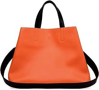 GEBELI Genuine Leather Crossbody Handbag Ladies Tote Purses Shoulder Bag for Woman (Color : Orange)