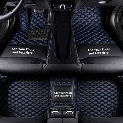 Fussmatten Auto 3D Autoteppich für Volkswagen Jetta Polo Golf CC Sharan Phaeton GTI Beetle Passat Touran Tiguan Touareg Individuelle Passform Kunstleder wasserdichte Voll Auto Matten Schwarz Blau 1Set