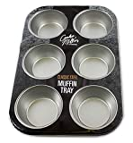 6 Deep Cup Non Stick Muffin Fairy Cake Baking Tray Tin Yorkshire Pudding Pies (1)