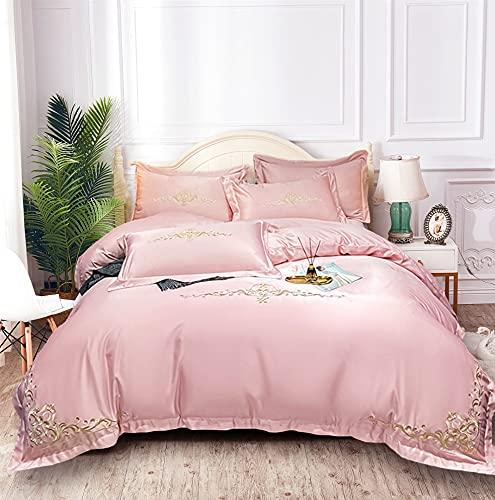 USTIDE Satin Bedding Set Super Soft Breathable...