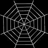 Wandefol Tela de araña de Halloween, tela de araña falsa para decoración de Halloween al aire libre e interior, telarañas de 1,5 m, color blanco