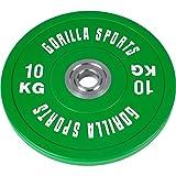 GORILLA SPORTS® Olympia-Hantelscheiben 50/51 mm Urethan - Bumper Plate 10 kg