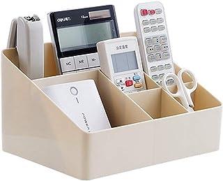 COMVIP Home 6 Grids Makeup Organizer Desk Storage Box Cosmetics Holder Apricot