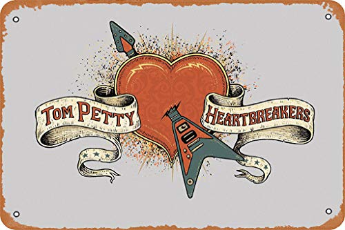Yitachi Tom Petty and The Heartbreakers Classic Rock Poster Celebrities & Musicians 12' X 8' Vintage Metal Tin Sign