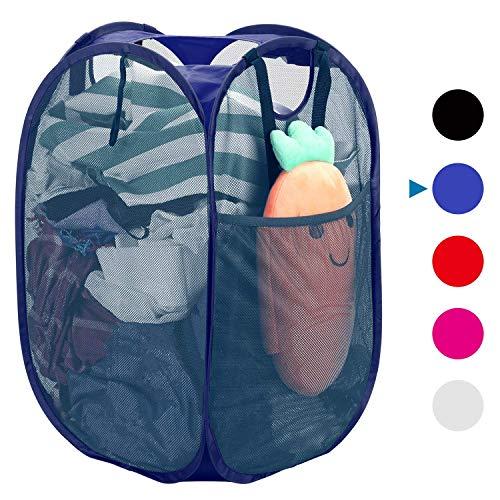 Popup Laundry Hamper, plegable malla Hamper ropa bolsa de almacenamiento cesta, Cesto Plegable de Malla para la Colada