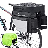 Sportneer Bike Bag Bicycle Panniers Rack Trunks 45L Large Capacity Waterproof Luggage Bags with Rain Cover