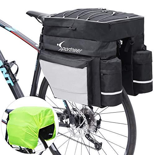 Sportneer Bike Bag Bicycle Panniers Rack Trunks 45L Large Capacity Waterproof Luggage Bags with Rain Cover