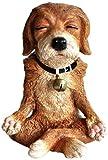 Top Collection Miniatur-Statue für Feengarten und Terrarium, Hund in Meditation