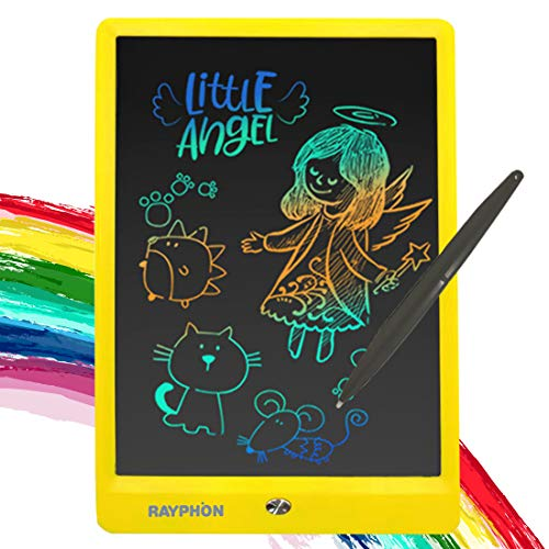 ZBHANTANG LCD Writing Tablet 10 Inch Drawing Board Doodle Board with Colorful Screen, Writing Board Electronic Doodle Pads Learning Tablet for Kids and Adults (Yellow, 10 inch)