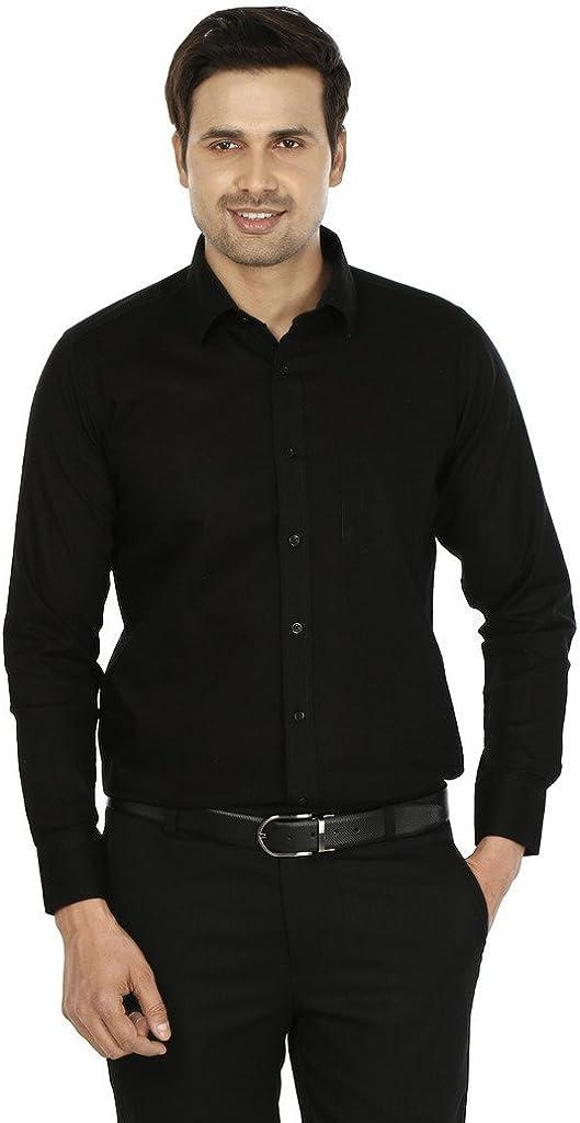 Royal Men's Formal Shirt Medium Black
