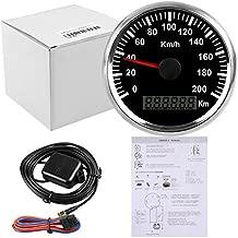 ELING Waterproof GPS Speedometer Odometer 200KM/H for Car Motorbike Buggy with Backlight 85mm 12V/24V