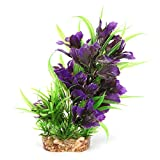 Wosune Planta de Agua biónica Segura, Planta de Agua Artificial para Acuario, Acuario para pecera(G-267Q1 Purple)