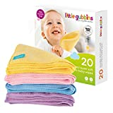 Little Gubbins 20 Microfibre Baby Wipes with FREE Laundry Bag | Pack of