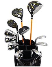 WORLD EAGLE(ワールドイーグル) 5Z メンズ ゴルフ クラブ フルセット ブラック FブラックバッグVer. 右用 フレックスR WE-5Z-BK-R-FBK