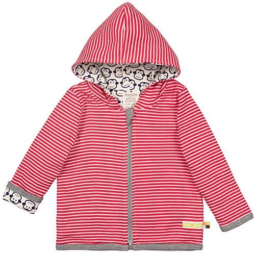 loud + proud Baby-Unisex Wendejacke aus Bio Baumwolle, GOTS Zertifiziert Jacke, Rot (Tomato to), (Herstellergröße: 86/92)