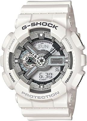 CASIO G-Shock GA-110C-7AER de cuarzo, correa de resina color blanco
