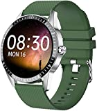 PKLG Relojes inteligentes para mujer y hombre, Bluetooth llamada...