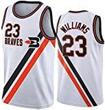 JYV Classique de Basket-Ball Jersey Vest, Los Angeles Clippers Lou Williams # 23 Manches, T-Shirt Unisexe Confortable Respirant (Couleur : White, Size : S)