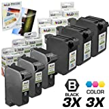 LD Remanufactured Ink Cartridge Replacement for HP 78 HP 45 ( 3 Black, 3 Color, 6 pk )