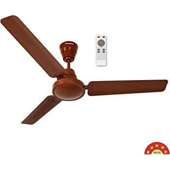 Crompton Energion HS 48-inch Energy Efficient 5 Star Rated High Speed BLDC Ceiling Fan with Remote (Brown)