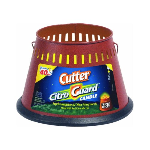 Cutter HG-95784 CitroGuard 20-Ounce Insect Repellent Triple Wick Candle, Pack of 2