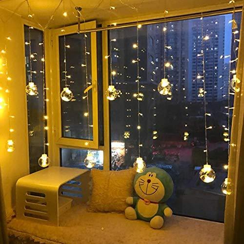 Powzz ornament Luces LED parpadeantes para cortinas, luces decorativas, bola de sueño